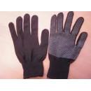 Перчатки нейлоновые с ПВХ черные