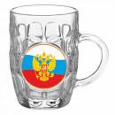 "Кружка для пива 500 мл.""Герб на флаге""арт.1002/1-Д"